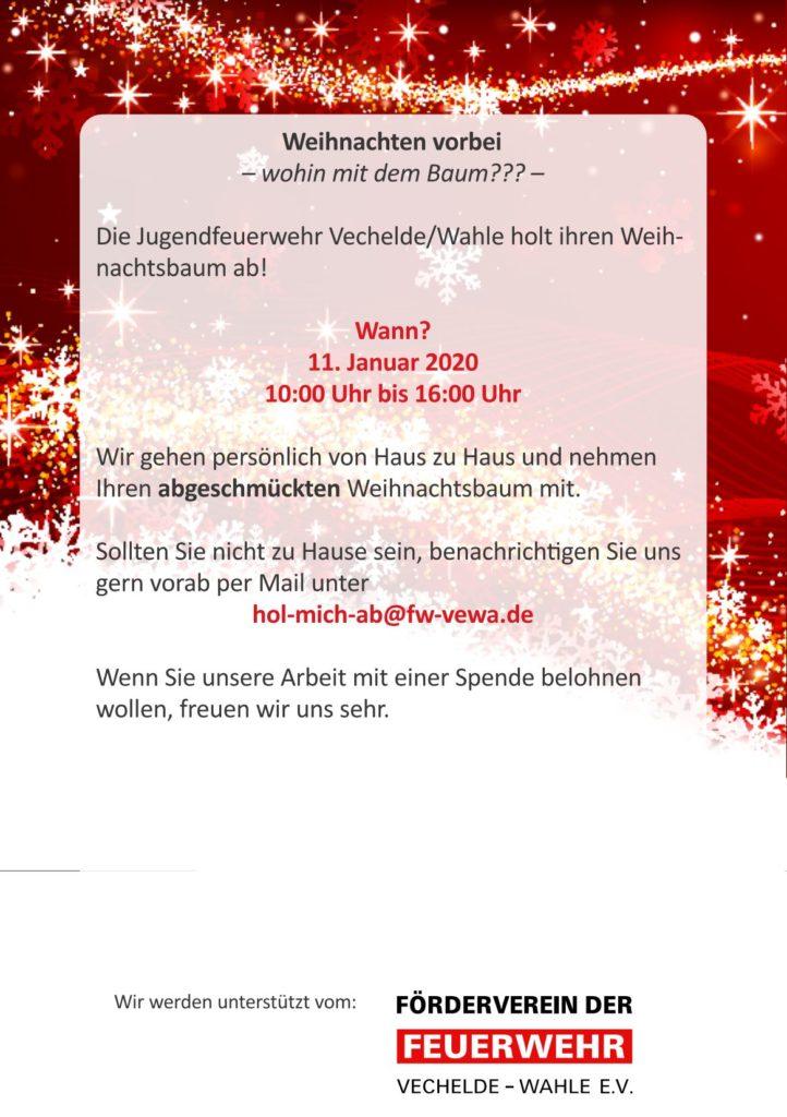 Weihnachtsbaumsammlung in Wahle